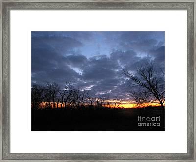 November Sunrise Framed Print by Cedric Hampton