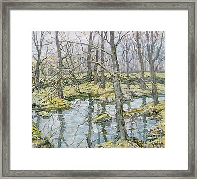 November  Framed Print by Walter Elmer Schofield