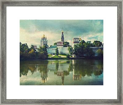 Novodevichy Convent. Moscow Russia Framed Print