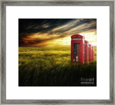 Now Home To The Red Telephone Box Framed Print by Lee-Anne Rafferty-Evans