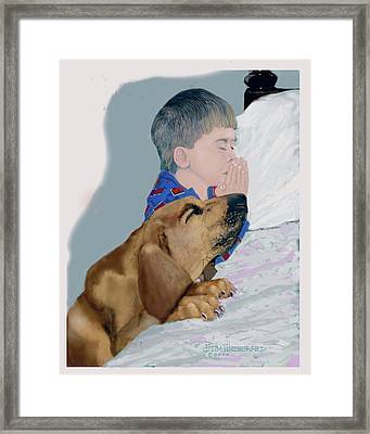 Framed Print featuring the drawing Now I Lay Us Down To Sleep by Jim Hubbard