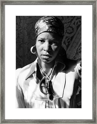 Ntozake Shange, Ca. 1977 Framed Print by Everett