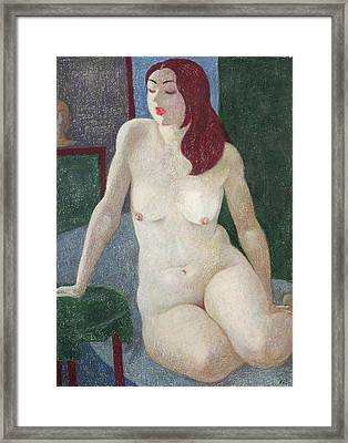 Nu 14 Framed Print by Leonid Petrushin