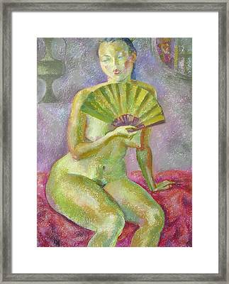 Nu 19 Framed Print by Leonid Petrushin