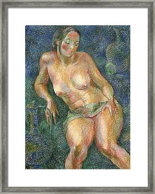 Nu 25 Framed Print by Leonid Petrushin