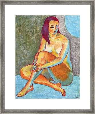 Nu 3 Framed Print by Leonid Petrushin