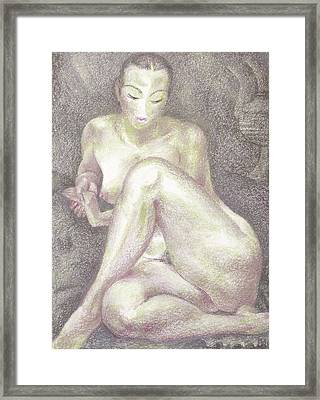 Nu 36 Framed Print by Leonid Petrushin