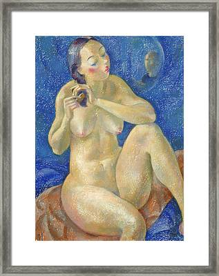 Nu 40 Framed Print by Leonid Petrushin
