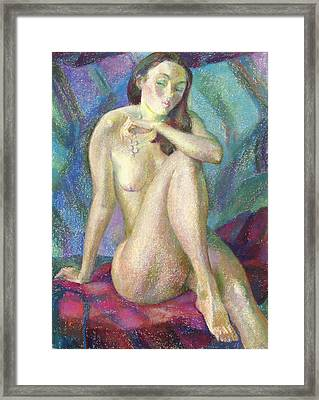 Nu 47 Framed Print by Leonid Petrushin