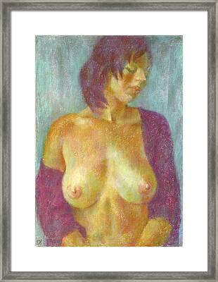 Nu 95 Framed Print by Leonid Petrushin