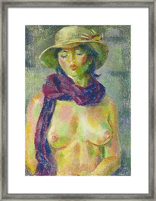 Nu 98 Framed Print by Leonid Petrushin