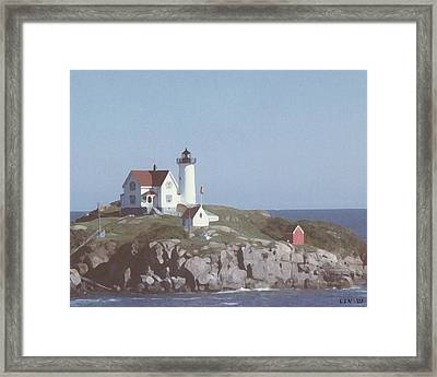 Nubble Light 1 Framed Print by Lin Grosvenor
