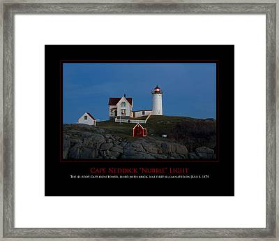 Nubble Light Framed Print by Jim McDonald Photography
