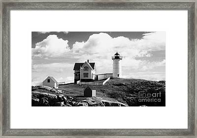 Nubble Lighthouse - Cape Neddick Maine Framed Print by Christy Bruna