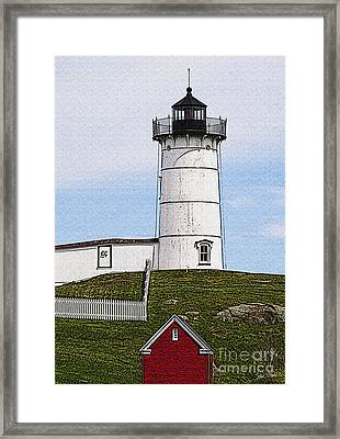 Nubble Lighthouse- Canvas Framed Print by Luke Moore