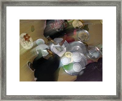 Nubian Dinner Clean Up Framed Print