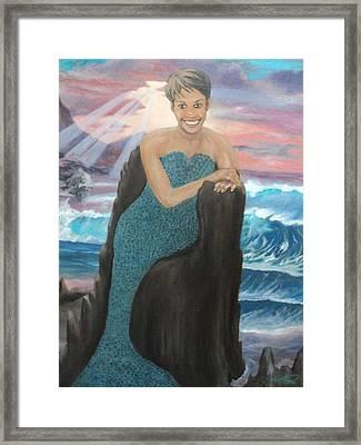Nubian Mermaid Framed Print by Angelo Thomas