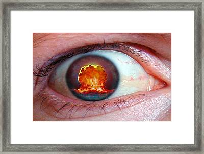 Nuclear Bomb Explosion Framed Print by Take 27 Ltd