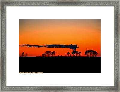 Nuclear Clouds Framed Print by Dan Crosby