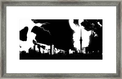 Nuclear Fallout Framed Print by Russell Clenney