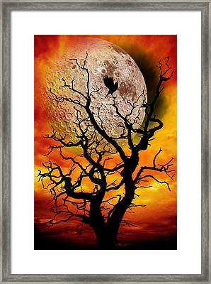 Nuclear Moonrise Framed Print by Meirion Matthias