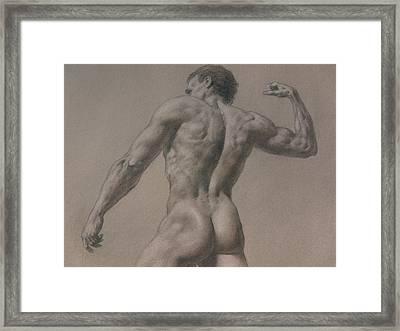 Nude - 8 A Framed Print by Valeriy Mavlo