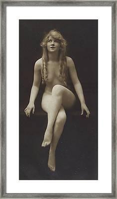 Nude Girl 1915 Framed Print by Steve K