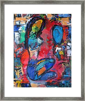 Nude In Colors Framed Print