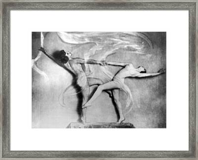 Nude Interpretive Dancers Framed Print by Underwood Archives