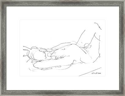 Nude-male-drawings-12 Framed Print