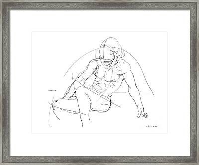 Nude-male-drawings-13 Framed Print