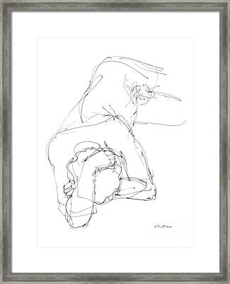 Nude Male Drawings 7 Framed Print