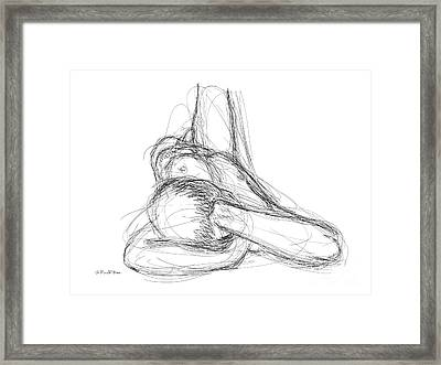 Framed Print featuring the drawing Nude Male Sketches 3 by Gordon Punt