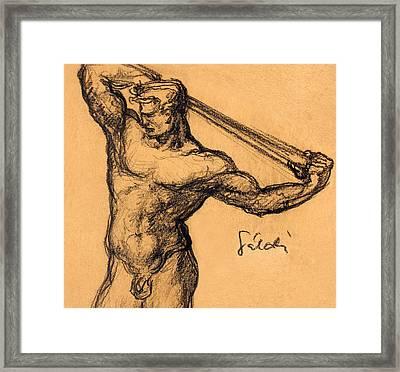 Nude Men Framed Print by Odon Czintos