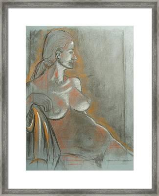 Nude Model  Framed Print by Aveda Allen
