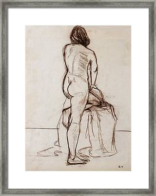 Nude Model Framed Print by Ethel Vrana