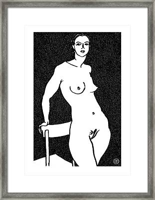 Nude Sketch 11 Framed Print