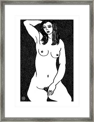 Nude Sketch 21 Framed Print by Leonid Petrushin