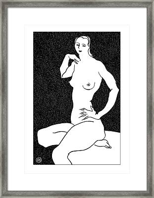 Nude Sketch 25 Framed Print by Leonid Petrushin