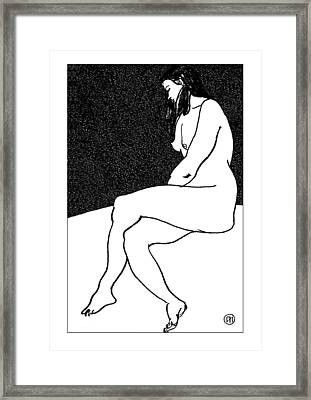 Nude Sketch 26 Framed Print by Leonid Petrushin