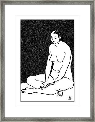 Nude Sketch 46 Framed Print by Leonid Petrushin