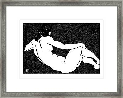 Nude Sketch 52 Framed Print by Leonid Petrushin