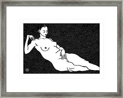 Nude Sketch 68 Framed Print by Leonid Petrushin