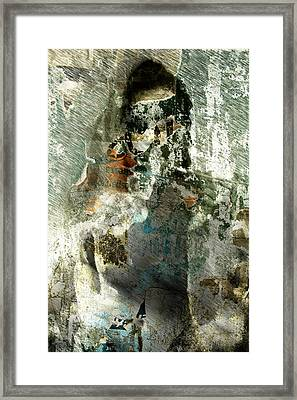 Framed Print featuring the digital art Nude Stranger by Andrea Barbieri