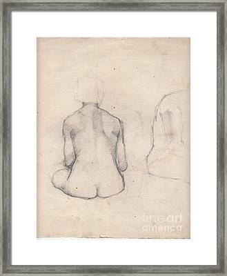 Nude Study 4 Framed Print by Brian Francis Smith