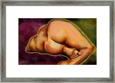 Nude Study One Framed Print by Lakota Phillips
