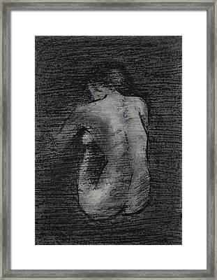 Nude Study....miniature Framed Print by Lynn Hughes
