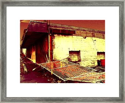 Nuked Warehouse Framed Print by Silvie Kendall