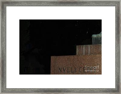 Nulli Cedit Framed Print by Mariana Costa Weldon
