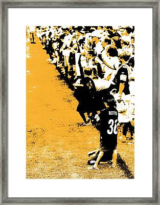 Number 1 Bettis Fan - Black And Gold Framed Print